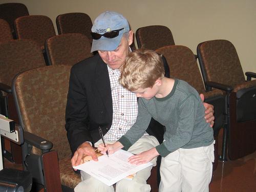 Phil Hoose & Reader at Green Earth Books Award 2009