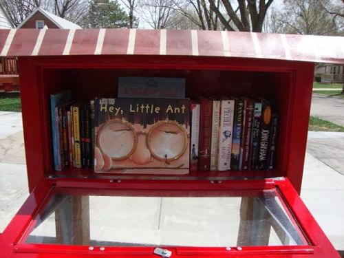 HEY LITTLE ANT in a Little Free Library